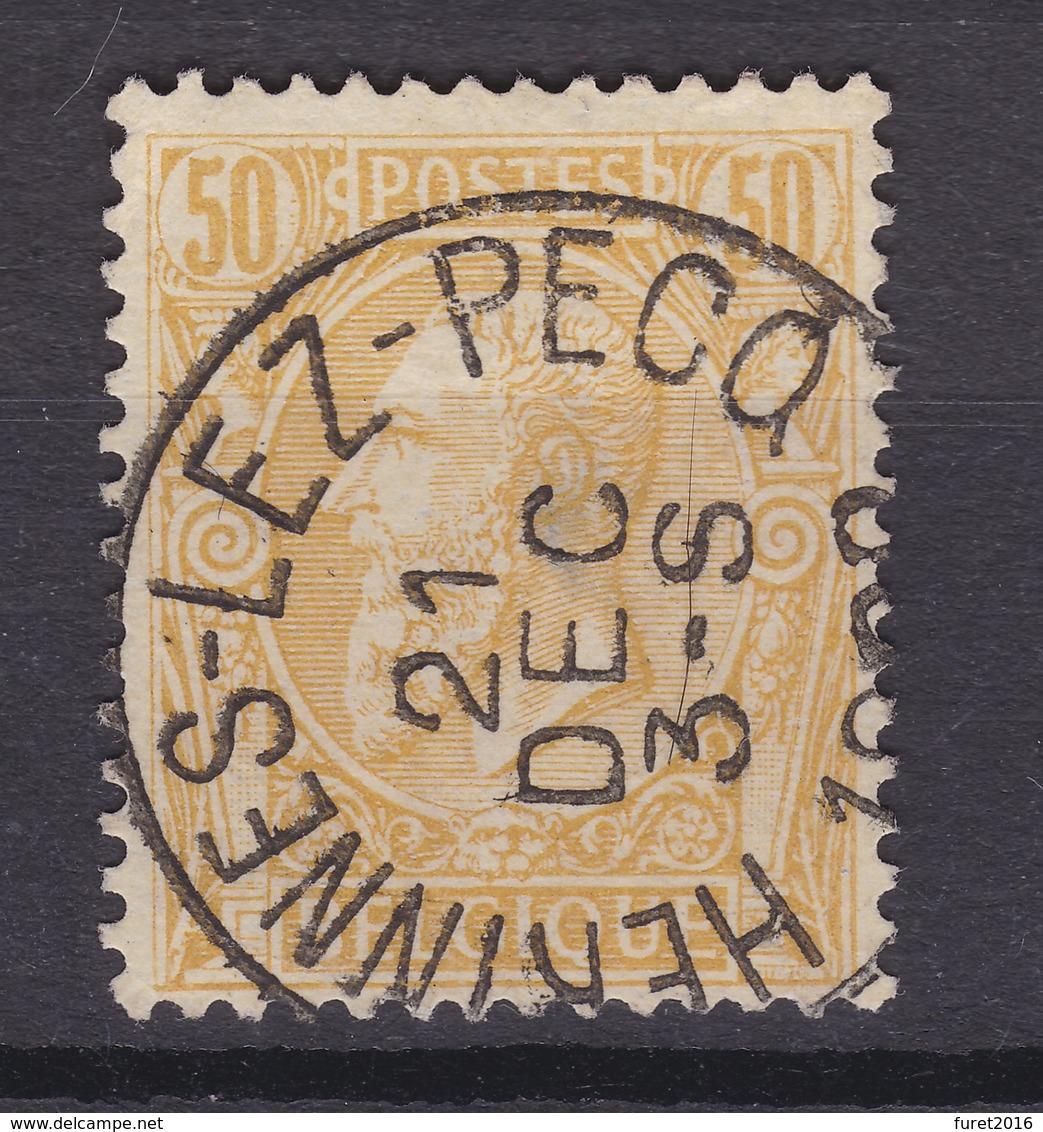 N° 50 Aminci : HERINNES LEZ PECQ - 1884-1891 Léopold II