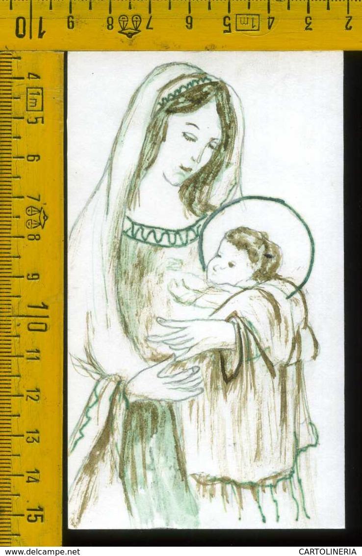 Santino Dipinto A Mano La Madonna - Santini