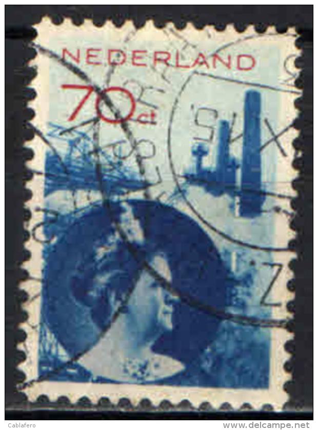 OLANDA - 1931 - REGINA GUGLIELMINA E INDUSTRIA  - USATO - Usados