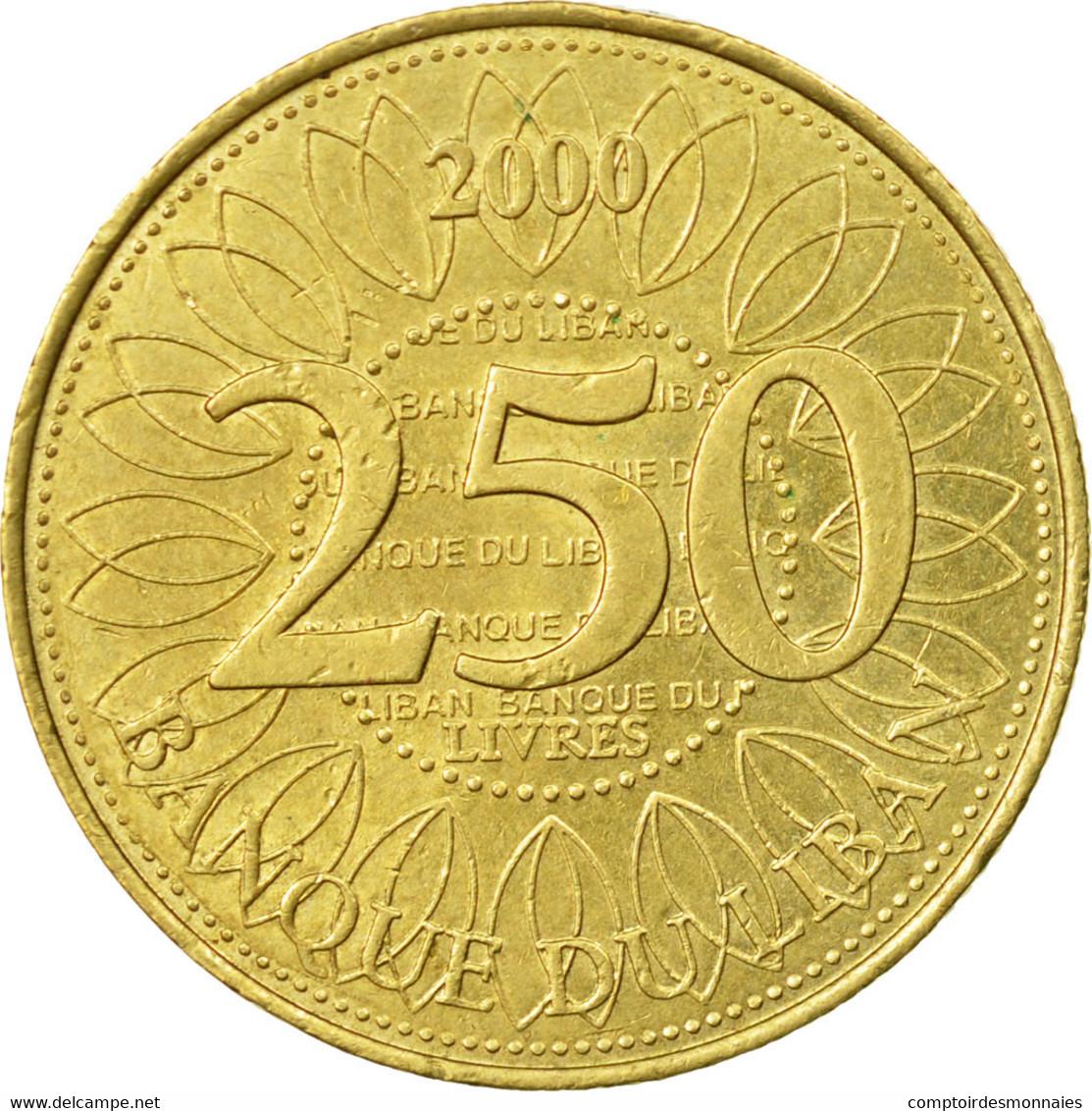 Monnaie, Lebanon, 250 Livres, 2000, TTB, Aluminum-Bronze, KM:36 - Liban