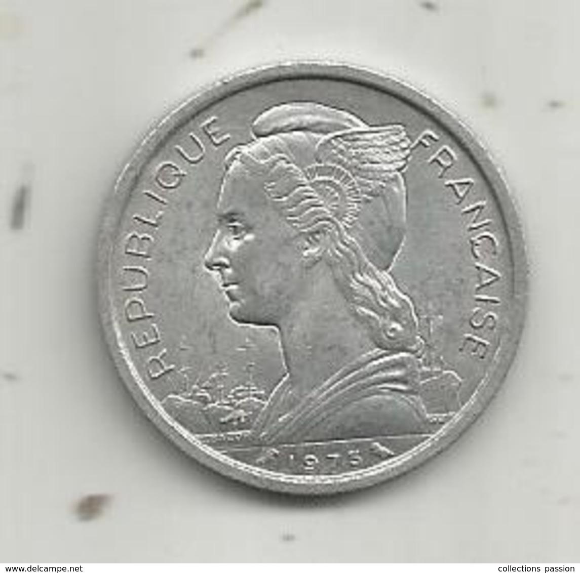 Monnaie, République Française , REUNION , 2 Francs ,1973 , 2 Scans - Réunion