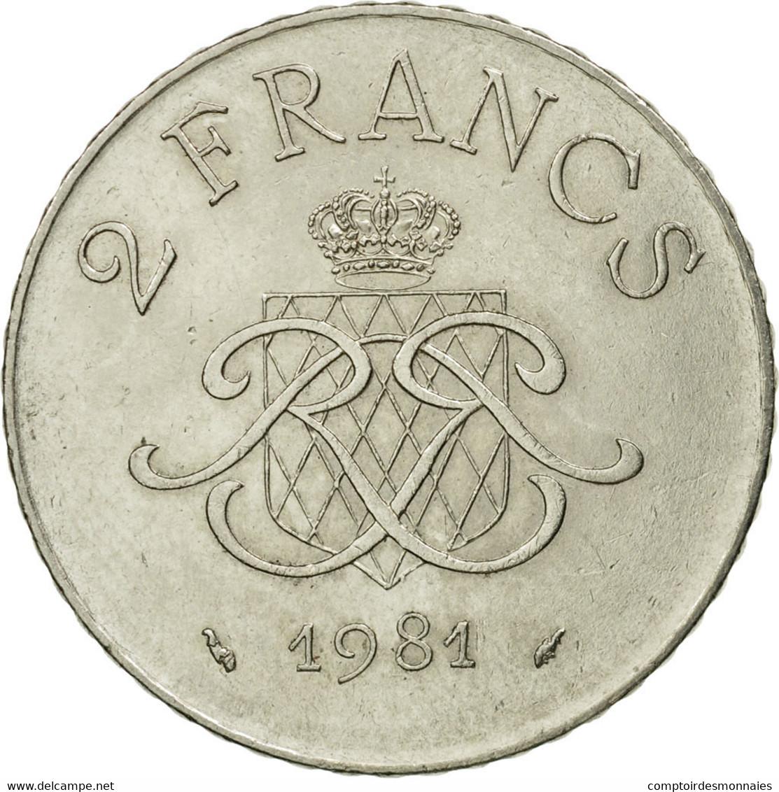 Monnaie, Monaco, Rainier III, 2 Francs, 1981, TTB, Nickel, Gadoury:MC151, KM:157 - Monaco