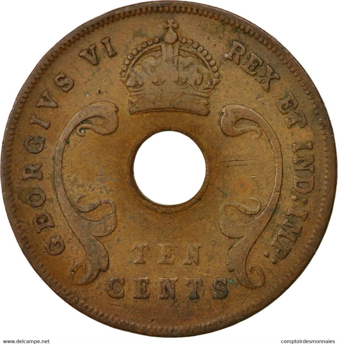Monnaie, EAST AFRICA, George VI, 10 Cents, 1943, TTB, Bronze, KM:26.2 - Colonie Britannique