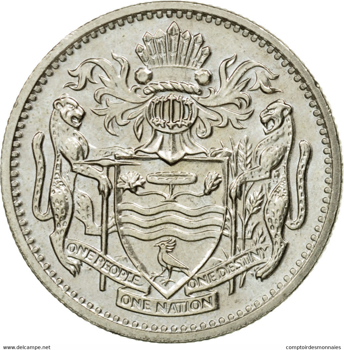 Monnaie, Guyana, 10 Cents, 1990, TTB, Copper-nickel, KM:33 - Guyana