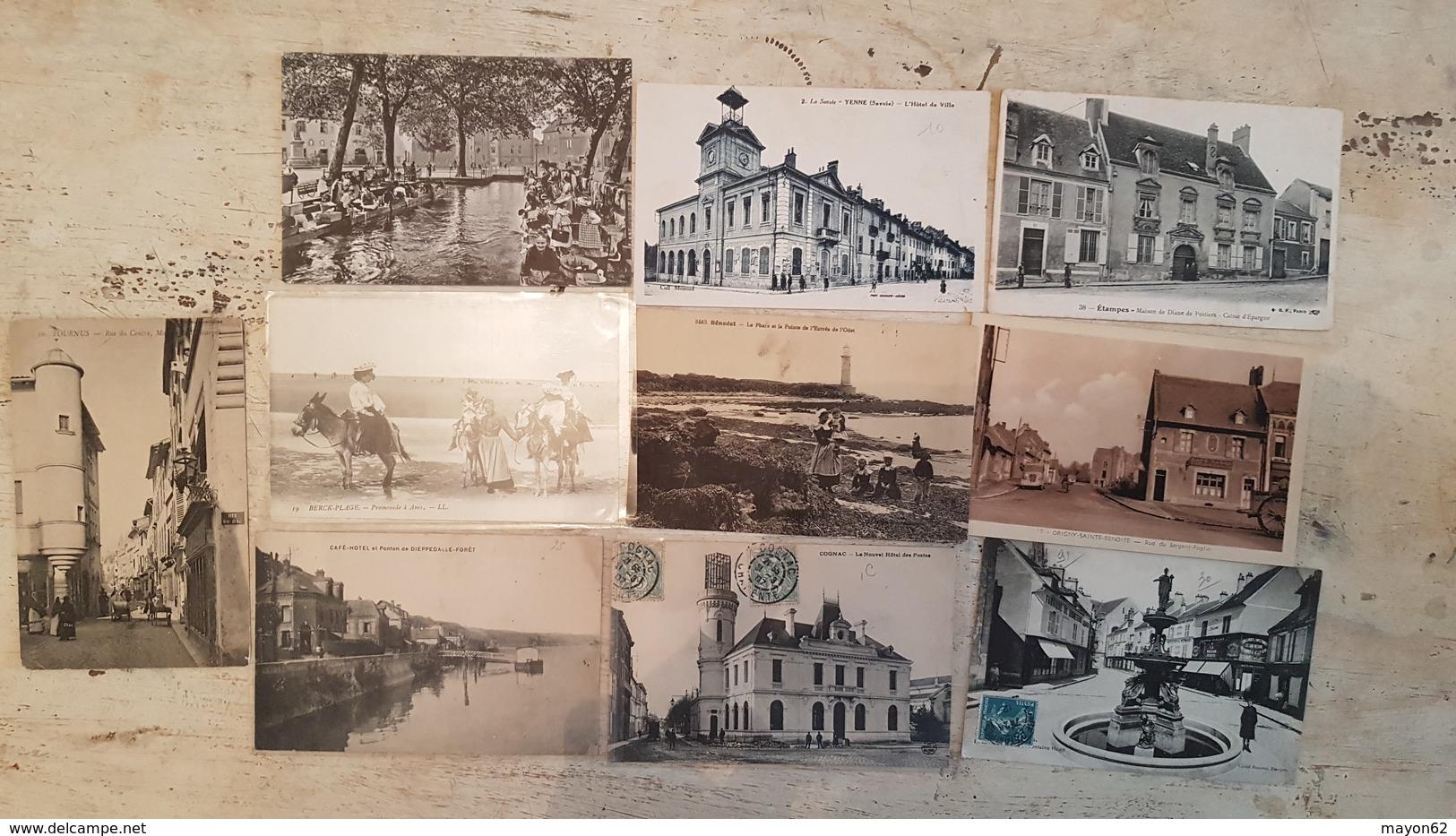 TOP LOT 210 CARTES POSTALES ANCIENNES FRANCE-TOUTES SCANNEES-DEPART 1E- VILLAGES USINES MILITARIA GARES -ANIMATION++++++ - Cartes Postales