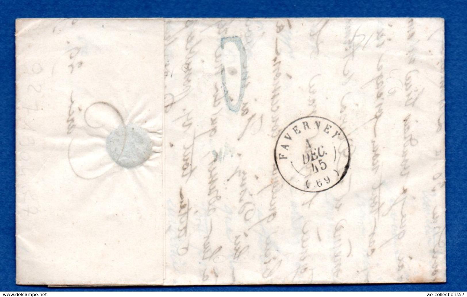 Lettre  / De Paris / Pour Baulay / 1845 - Marcophilie (Lettres)