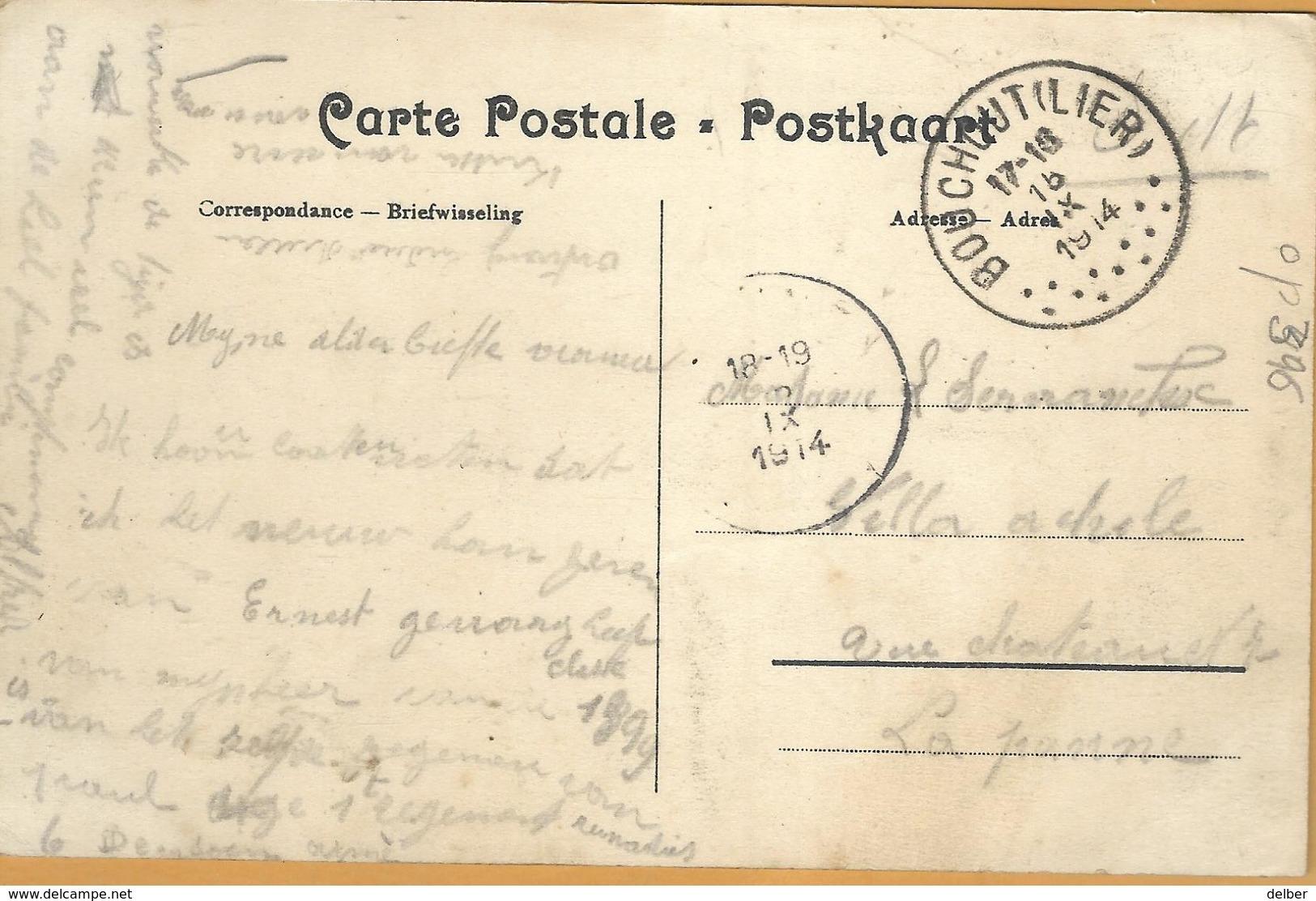 Op-396: S.M. BOUCHOUTE(LIER) 15 IX 1914 > PANNE 5 IX 1914 : Pk: Bouchout -Buitengoed E.SCHAEDELER - Oorlog 14-18