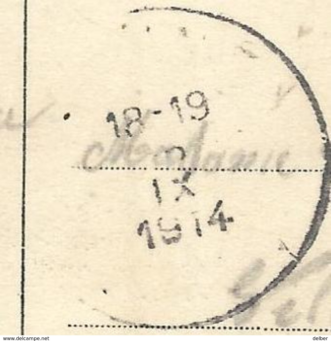 Op-396: S.M. BOUCHOUTE(LIER) 15 IX 1914 > PANNE 5 IX 1914 : Pk: Bouchout -Buitengoed E.SCHAEDELER - Invasión