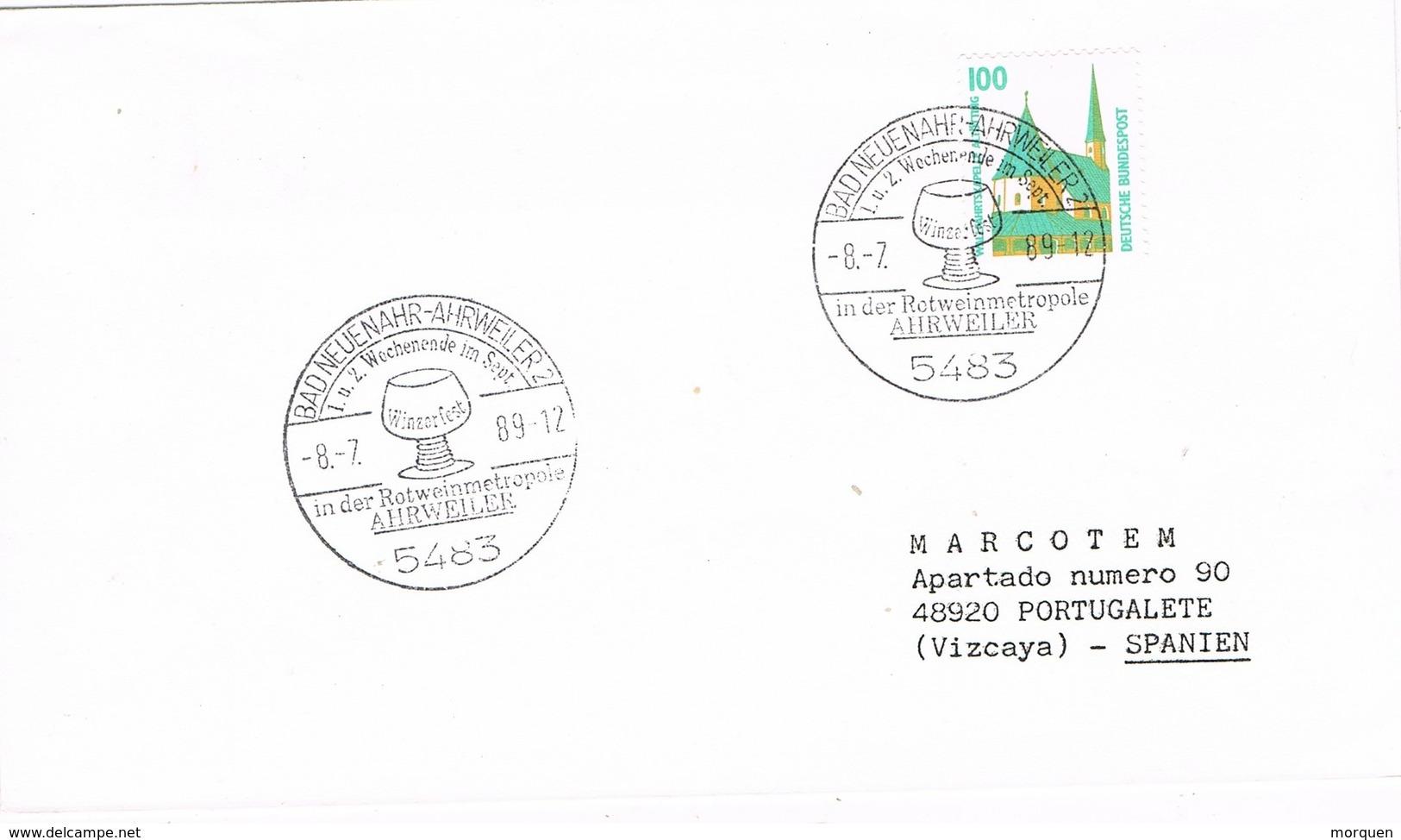 30087. Carta NEUSNAHR - AHRWEILER (Alemania Federal) 1989. Wein, Vino. WINZERFEST - [7] República Federal