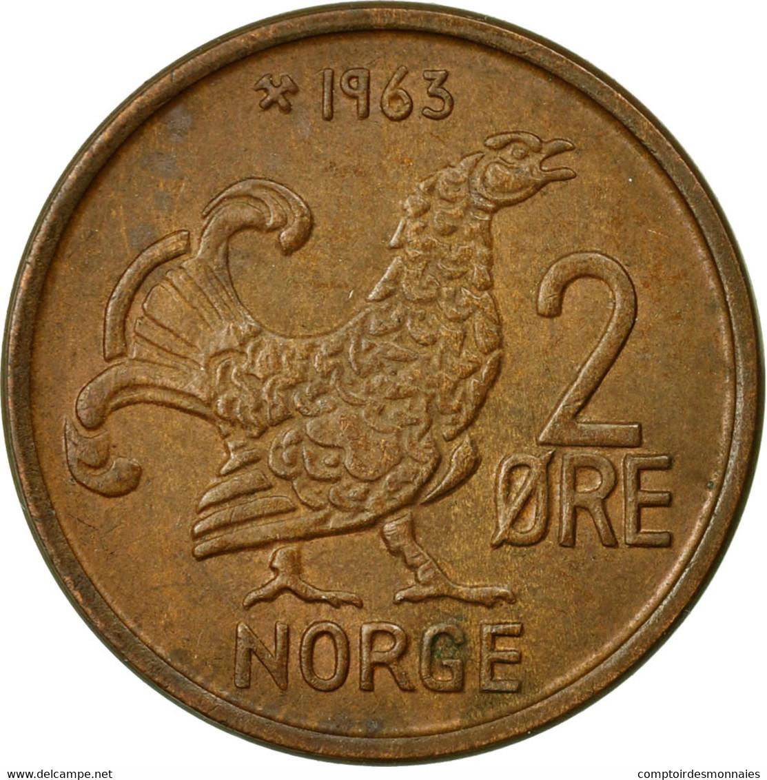 Monnaie, Norvège, Olav V, 2 Öre, 1963, TTB, Bronze, KM:410 - Norvège
