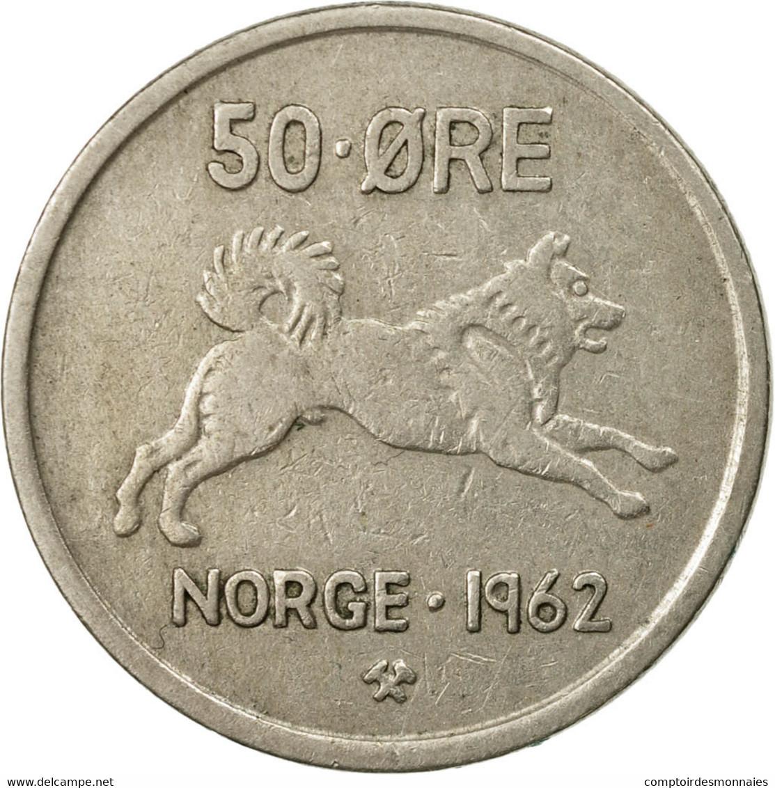 Monnaie, Norvège, Olav V, 50 Öre, 1962, TTB, Copper-nickel, KM:408 - Norvège