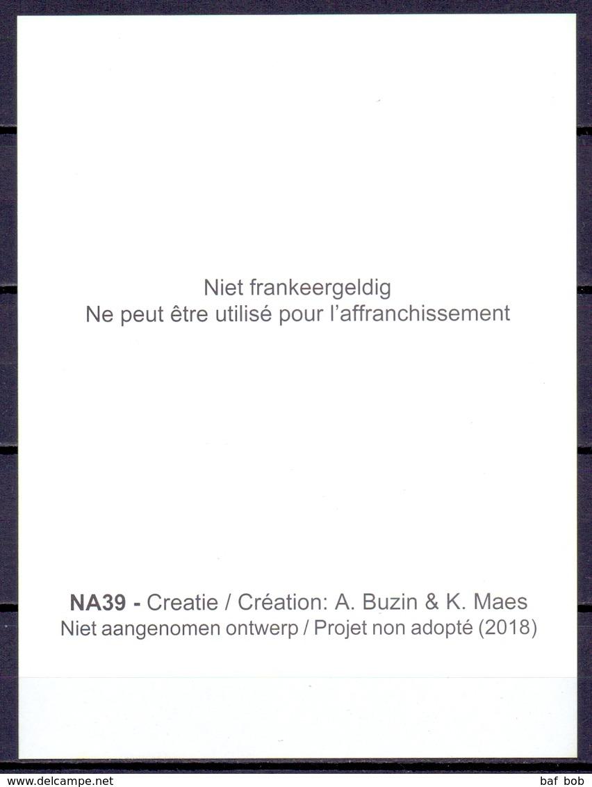 """2018  NA 39  Niet Aangenomen Ontwerp Van André Buzin & K.Maes  """"Libellen - Libellules"""" - Belgique"""