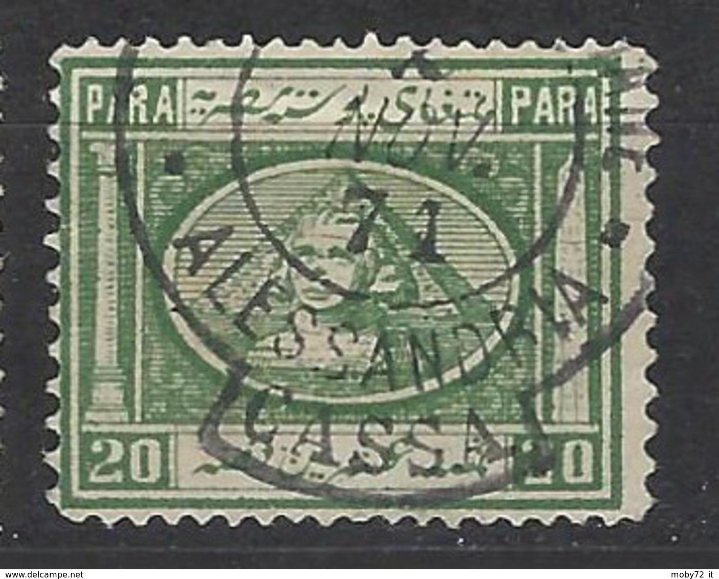 Egitto - 1867 - Usato/used - Sfinge - Mi N. 10 - 1866-1914 Khedivaat Egypte