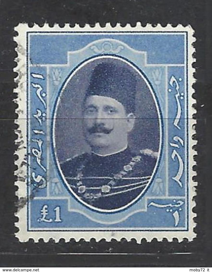 Egitto - 1923 - Usato/used - Re Faud I - Mi N. 93 - Egitto