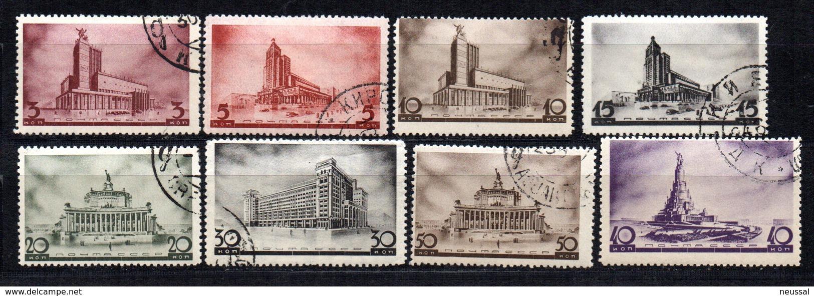 Serie  Nº 596/603   Rusia - Usados