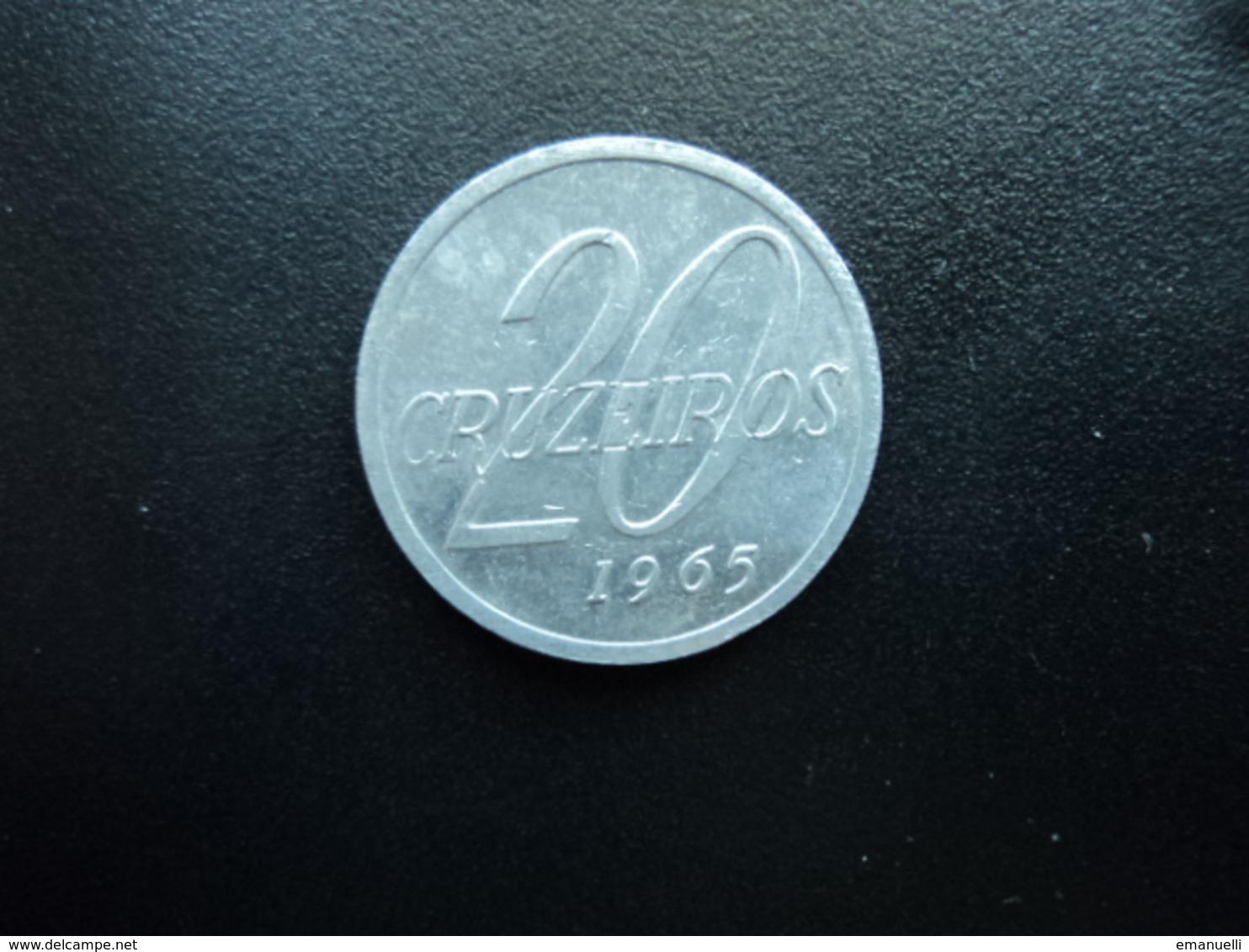 BRÉSIL : 20 CRUZEIROS  1965   KM 573     Non Circulé * - Brésil