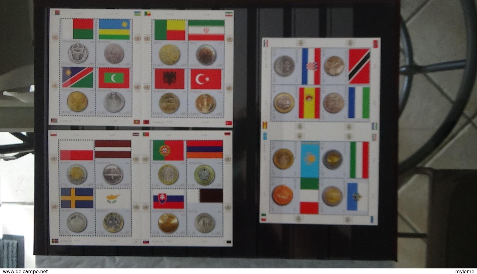 Dispersion D'une Grosse Collection Timbres Et Blocs ** Nations Unies Tous Bureaux. Superbe !!! - Timbres