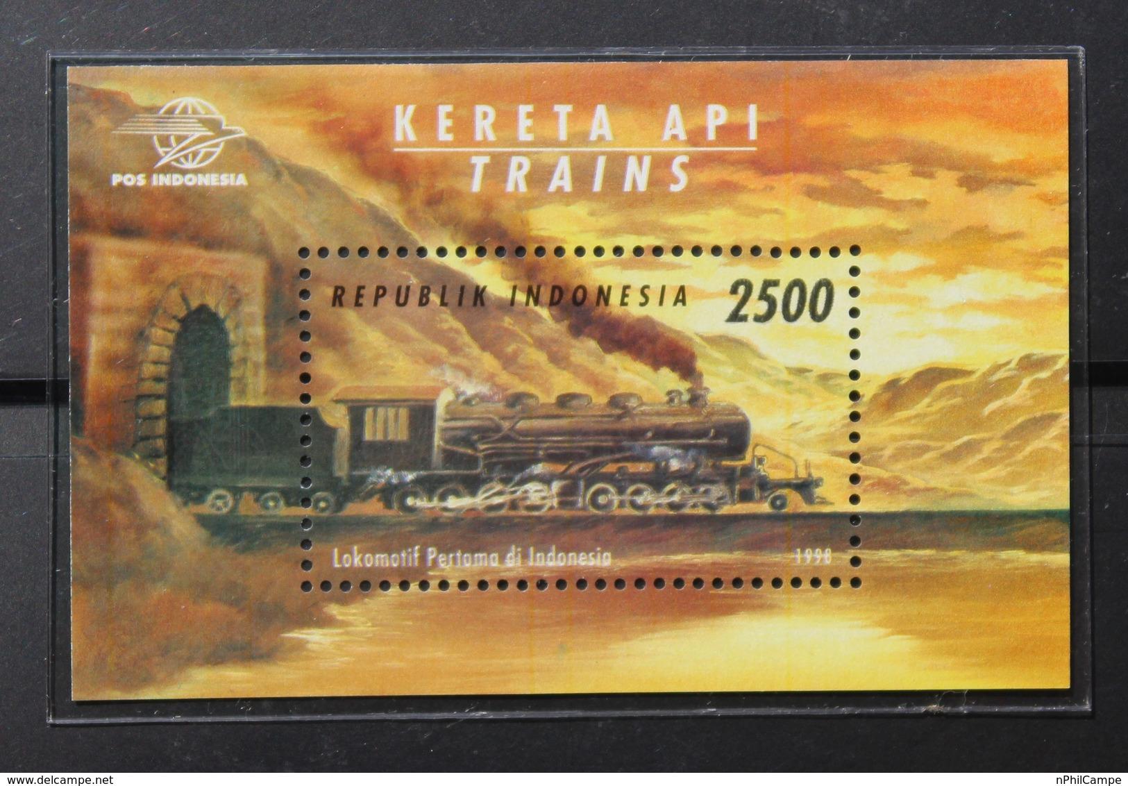 L#33 -  Indonésie. Indonesian TRAINS 1998 SS. MNH - Indonesia