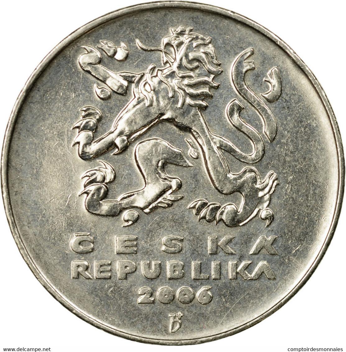 Monnaie, République Tchèque, 5 Korun, 2006, TTB, Nickel Plated Steel, KM:8 - Tchéquie