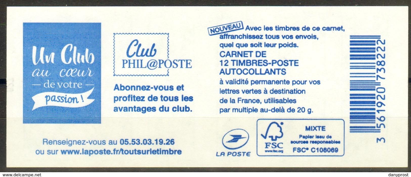 CARNET N° 1215-C 8  / U.C-CIAPPA-12ex-20g LV / Club Phil@poste / RARE, NEUF.... - Carnets