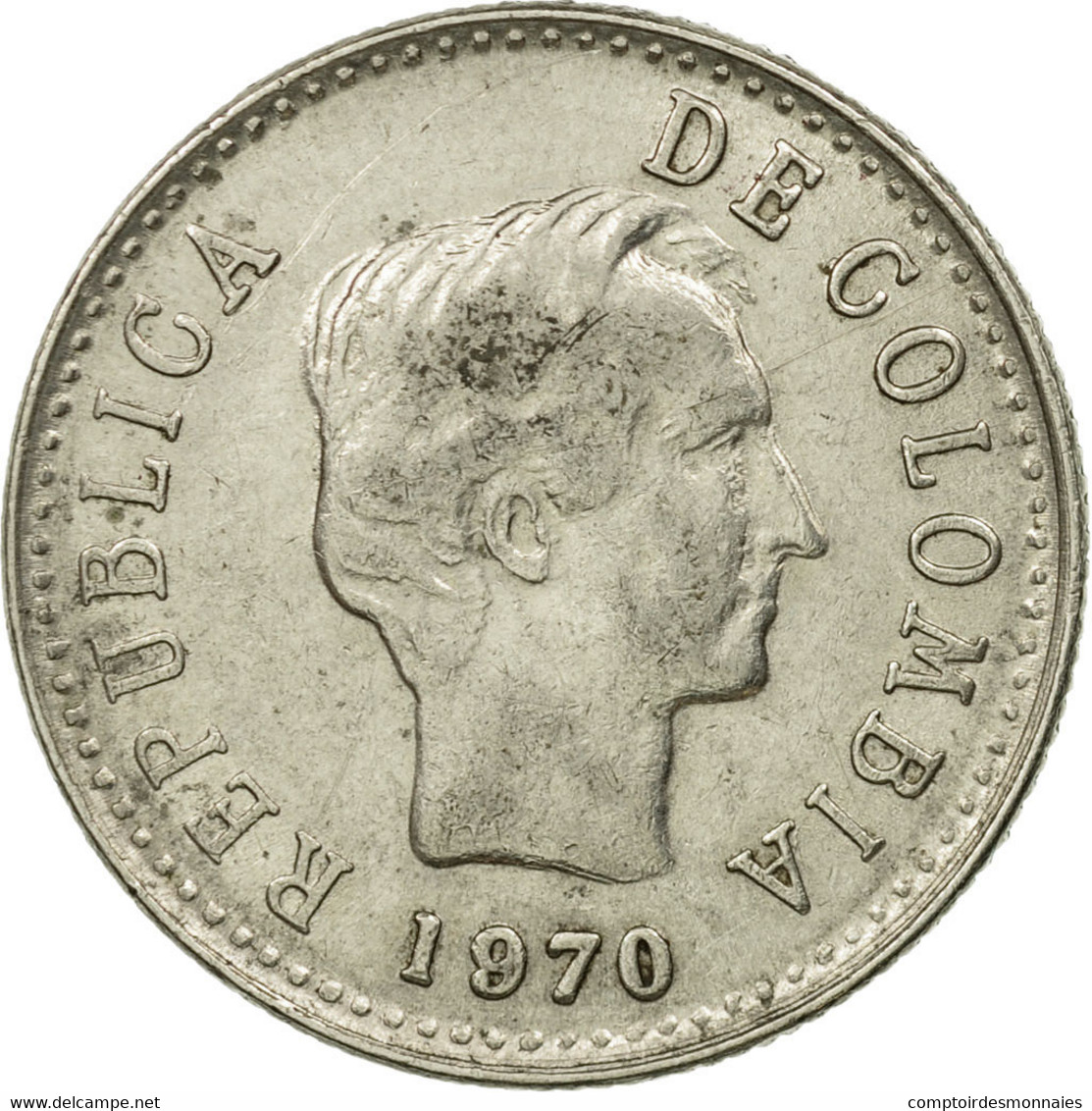 Monnaie, Colombie, 20 Centavos, 1970, TTB, Nickel Clad Steel, KM:237 - Colombia