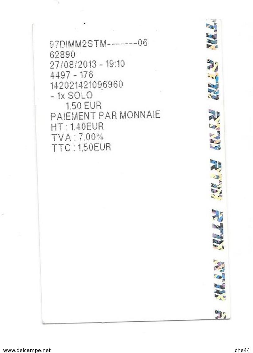 Ticket RTM. (Voir Commentaire) - Bus