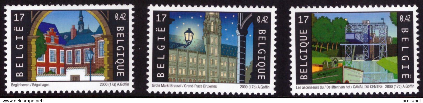 Belgium 2923/25** UNESCO  MNH - Neufs