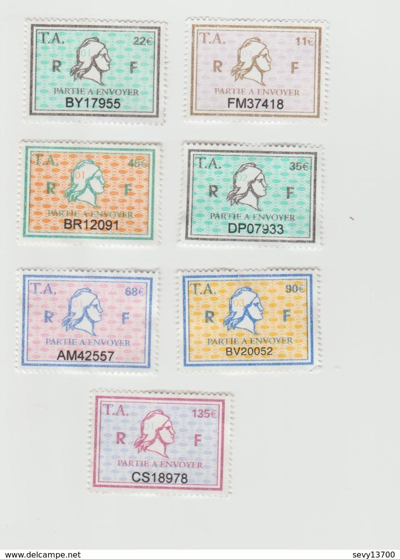 Série Complète Timbres Fiscaux -  7 Timbres Amende - Steuermarken