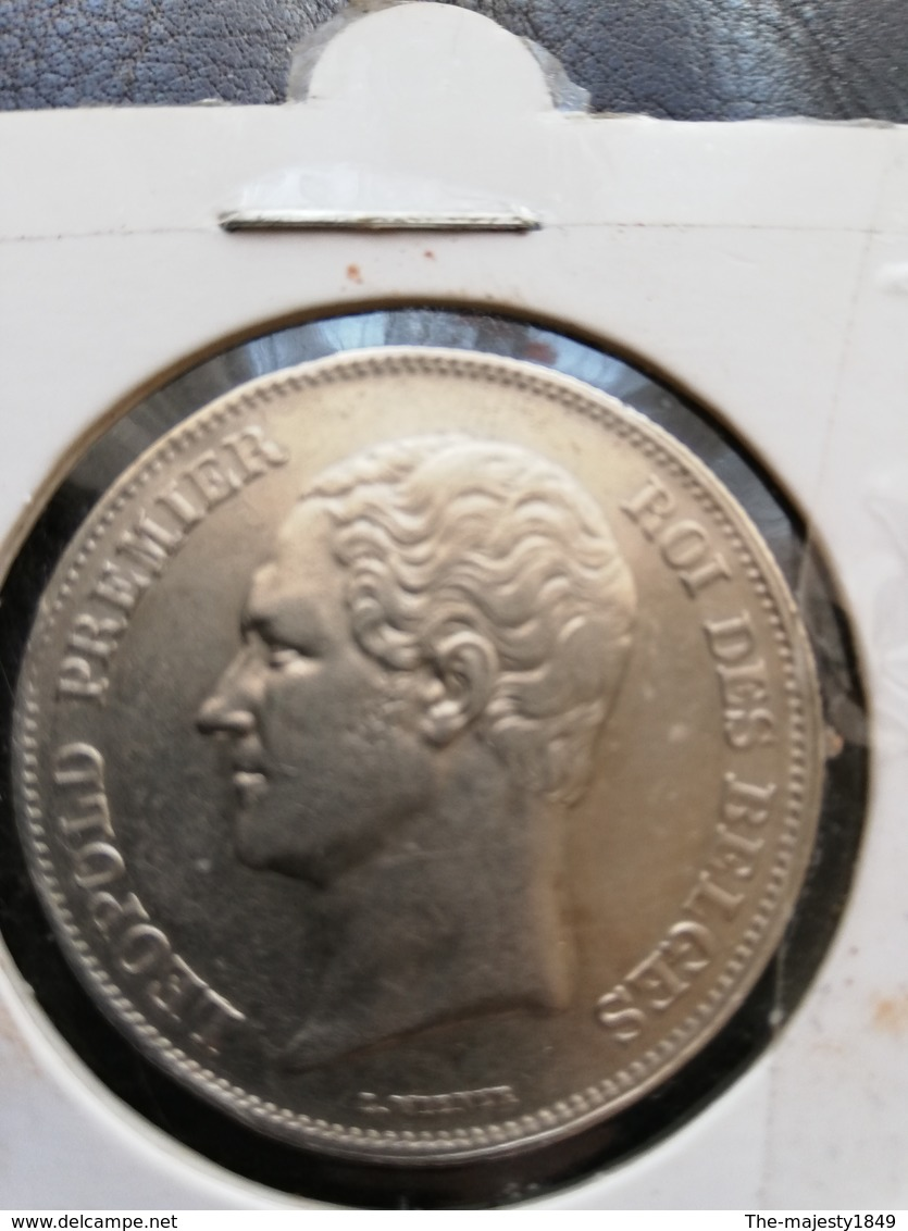 Léopold 1er. 2 1/2 Francs 1848 (rare !) (petite Tete) TTB+ - 1831-1865: Léopold I