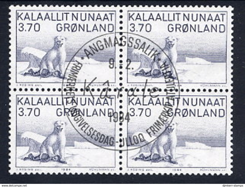 GREENLAND 1984 Art IV In Used  Block Of 4.  Michel 147 - Greenland