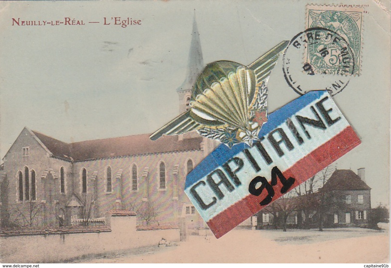 CPA NEUILLY LE REAL ALLIER L EGLISE - Autres Communes