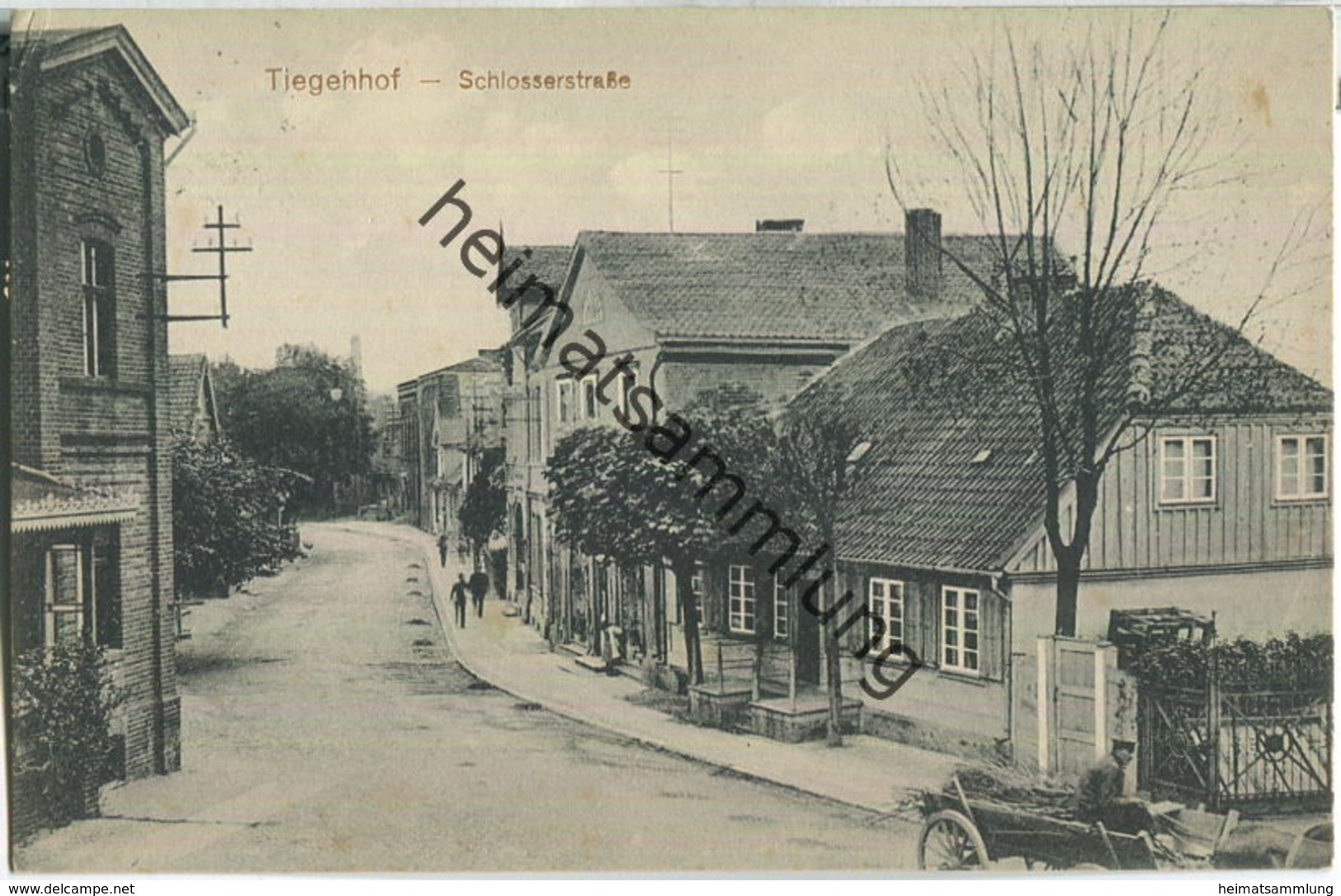 Nowy Dwor Gdanski - Tiegenhof - Schlosserstrasse - Verlag Leop. Zehrun Tiegenhof - Westpreussen