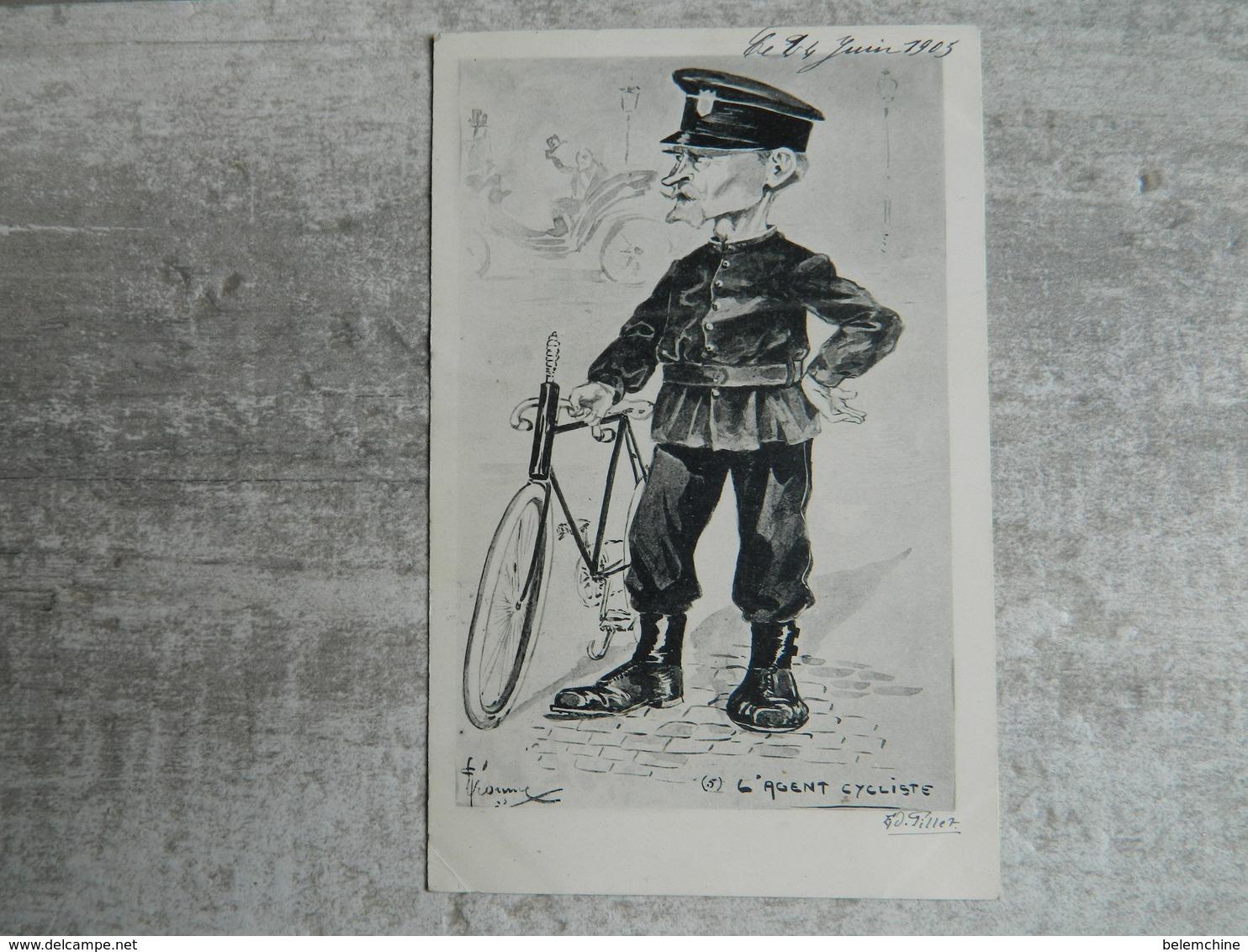 L' AGENT CYCLISTE - Police - Gendarmerie