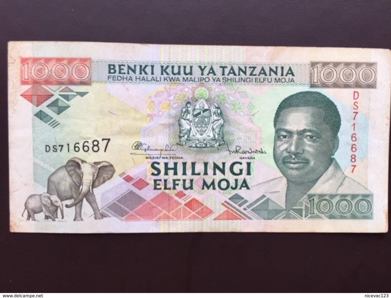 TANZANIA P27 1000 SHILINGI ND 1993 VF - Tanzanie