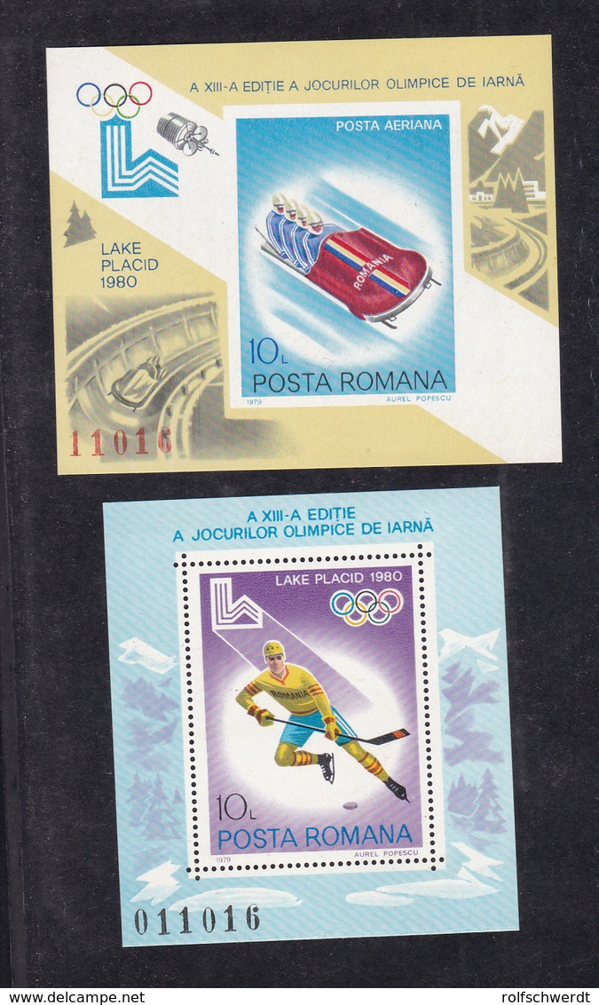 Olympische Winterspiele Lake Placid 1980, Blockpaar ** - Romania