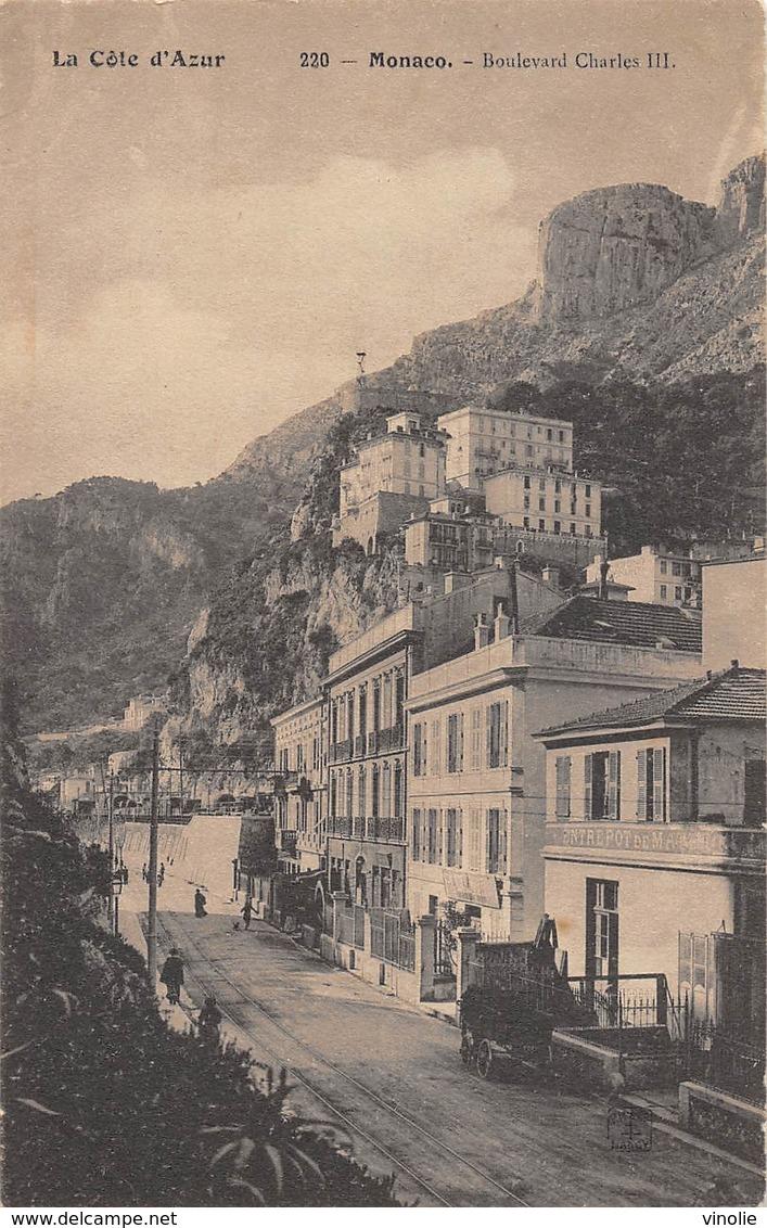 D.18-2826 :   MONACO. BOULEVARD CHARLES III - Monaco