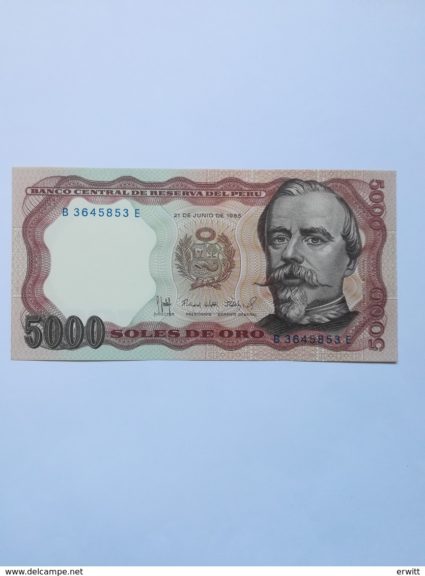 PERU 5000 SOLES DE ORO 1985 - Pérou