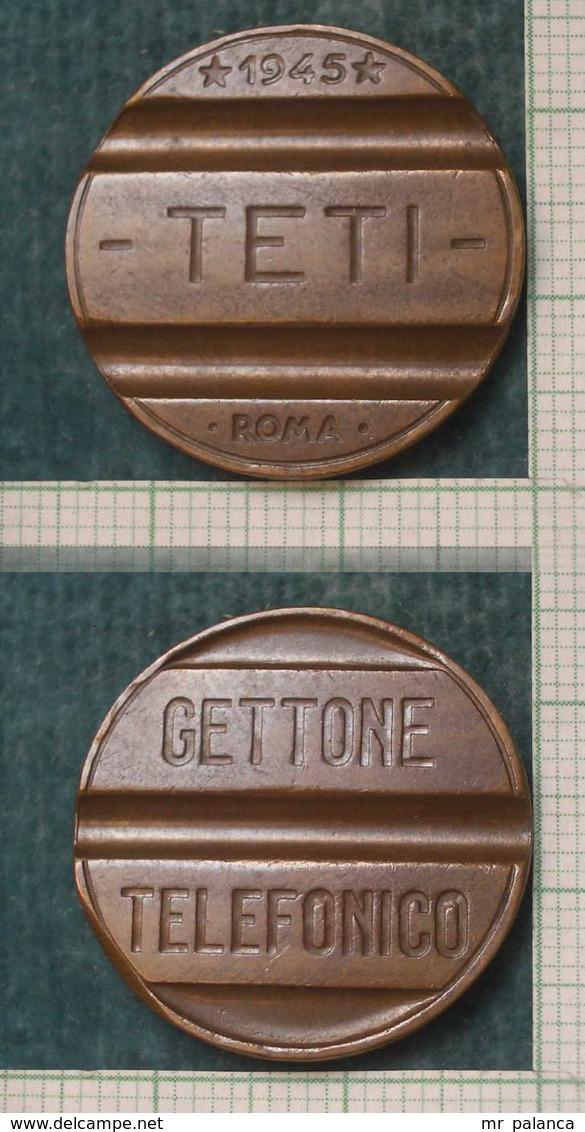 M_p> Gettone Telefonico TETI 1945 - Monetary/Of Necessity