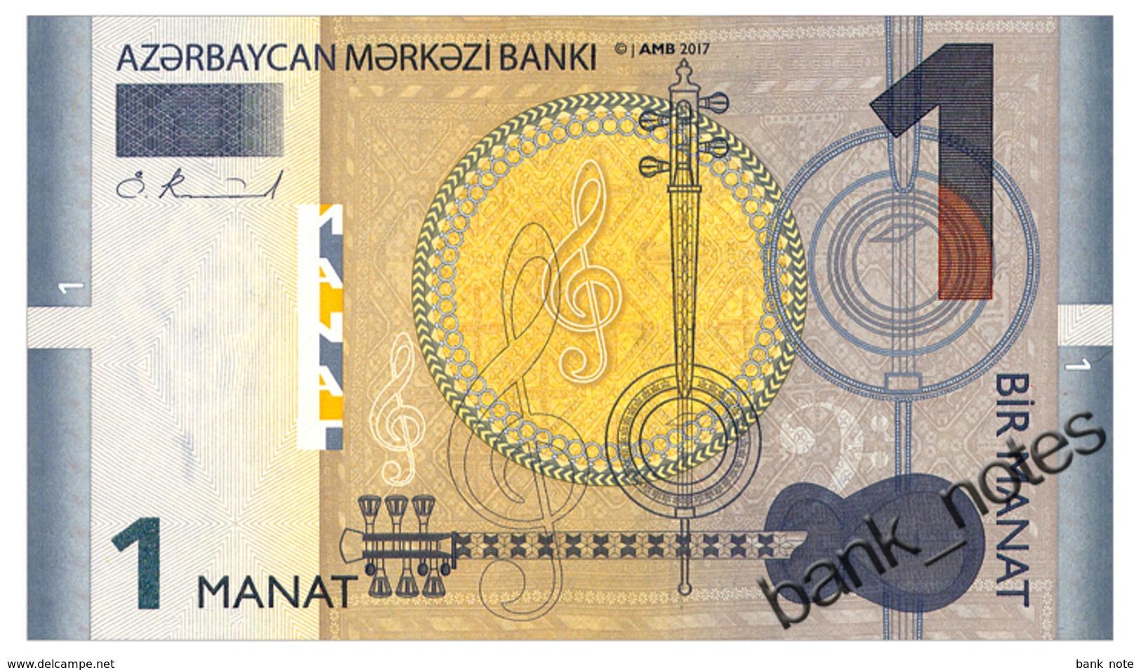 AZERBAIJAN 1 MANAT 2017 Pick New Unc - Azerbaïjan