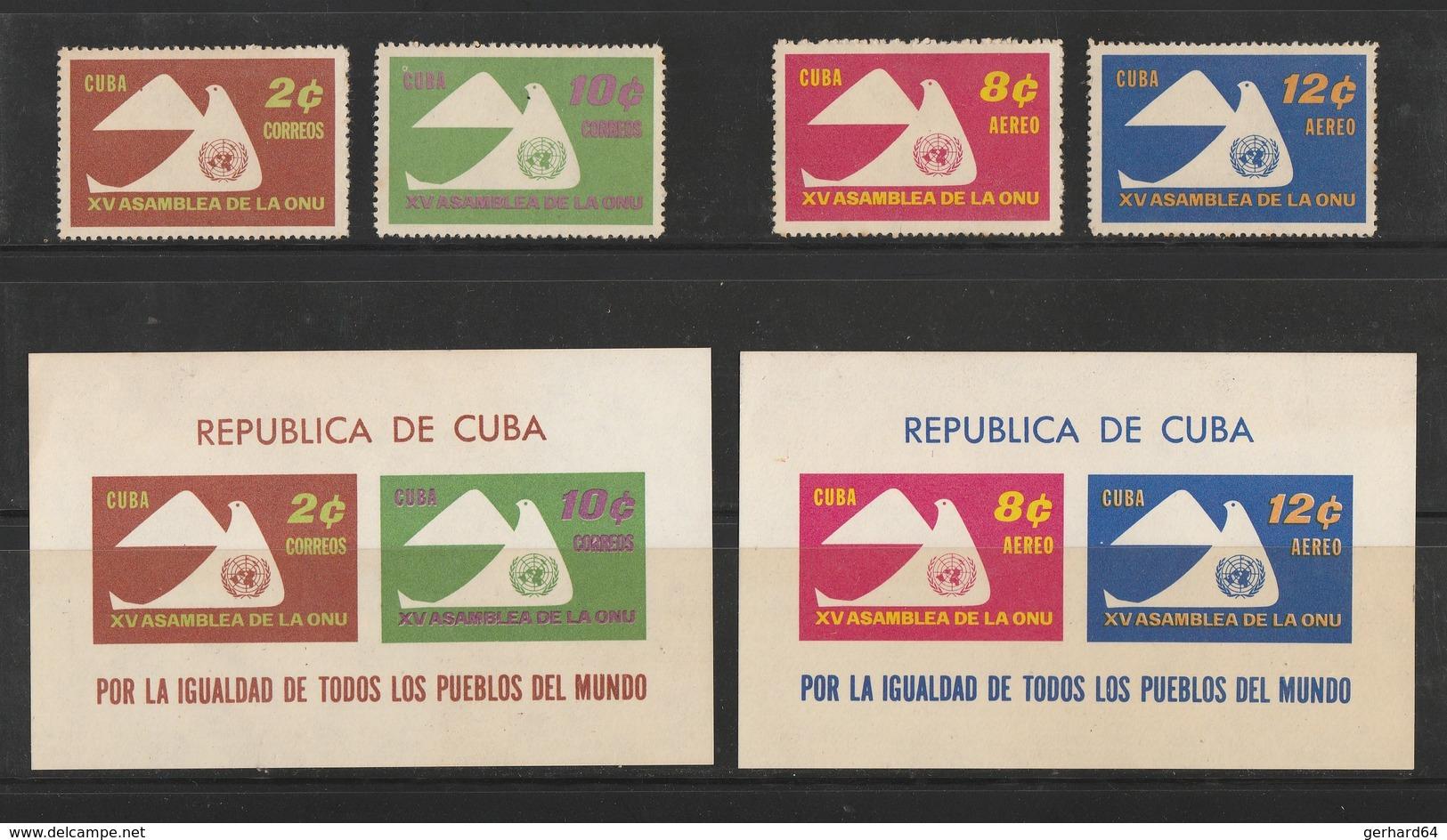 CUBA 1961 - N° Yvert > Poste 554-555 + PA 230-231 + Blocs 19-20 - Neufs** - Cuba