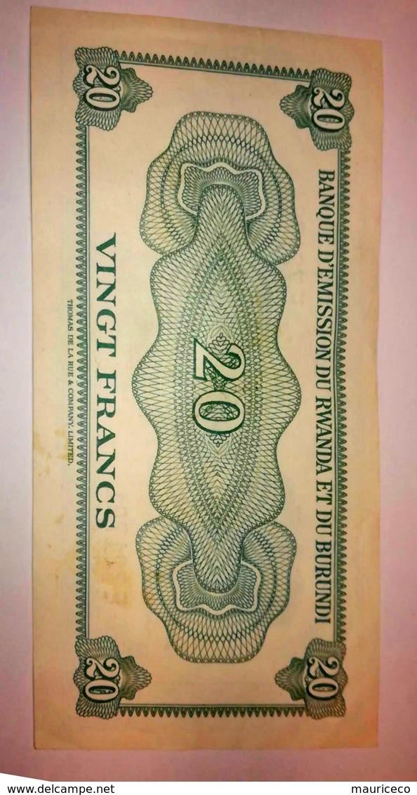 Rwanda-Burundi / Ruanda-Burundi: 20 Francs 1960 Banque D'Emission Du Rwanda Et Du Burundi P. 3 - Ruanda-Urundi
