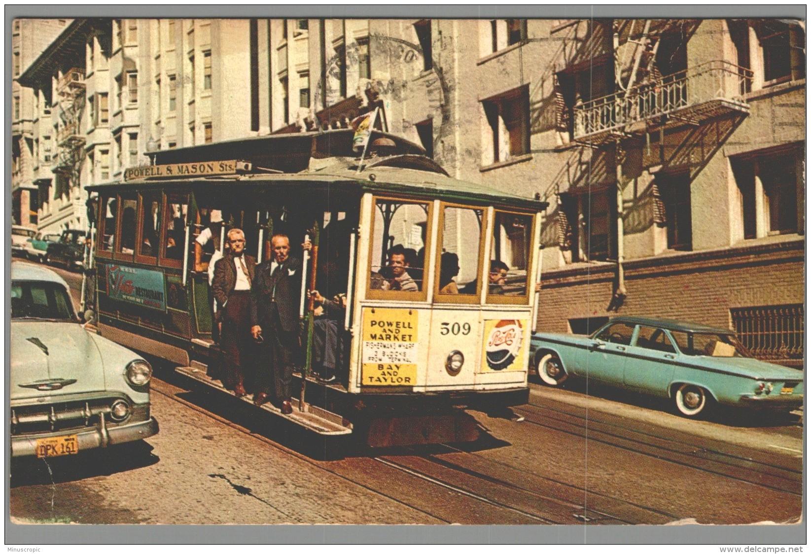 CPSM USA - San Francisco Cable Car - San Francisco