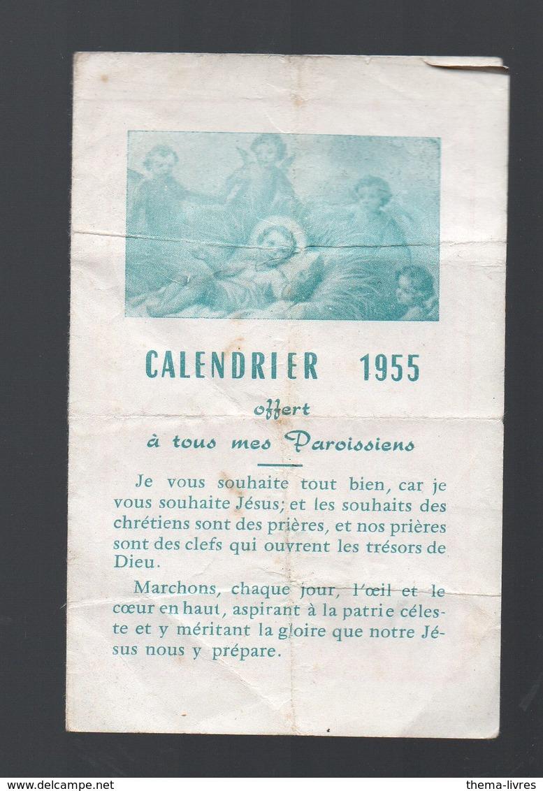"""Calendrier 1955 """"offert à Tous Mes Paroissiens"""" (PPP15343) - Calendriers"""