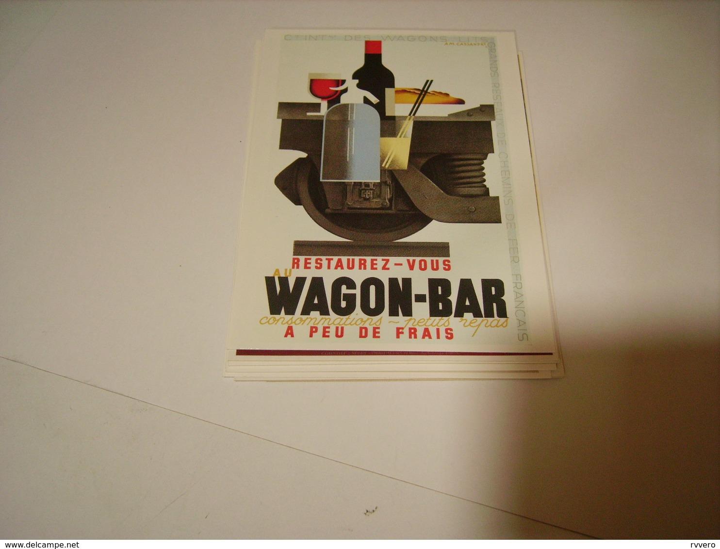 CARTE POSTALE PUBLICITE WAGON BAR - Chemins De Fer