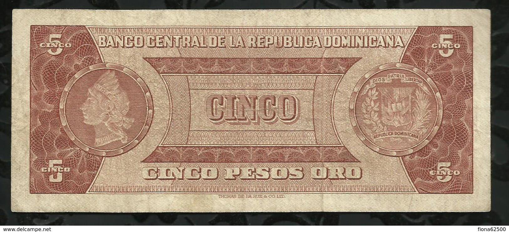 REPUBLIQUE DOMONICAINE . 5 PESO ORO . SANCHEZ . - Dominicaine