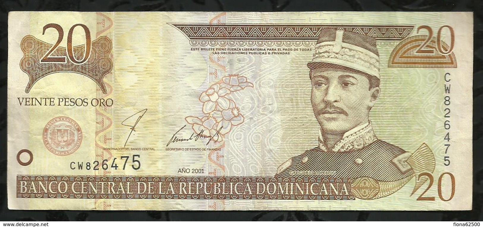 REPUBLIQUE DOMONICAINE . 20 PESO ORO . - Dominicaine