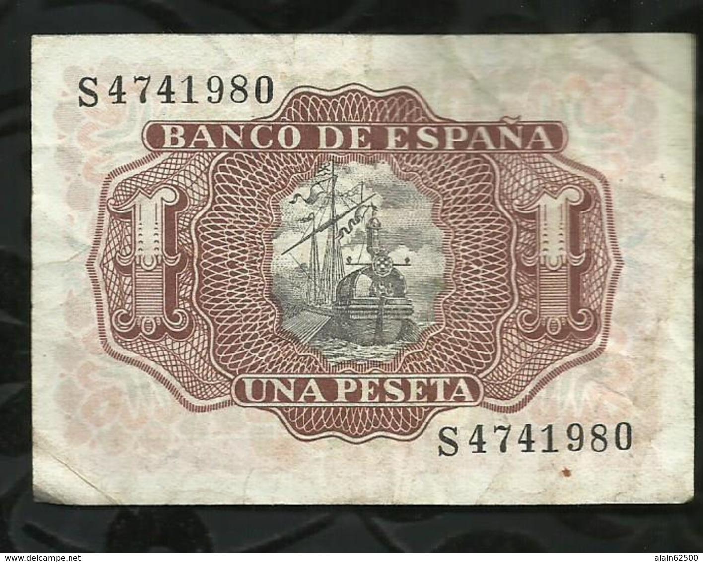 ESPAGNE . 1 PESETA 1953 . - [ 3] 1936-1975 : Régence De Franco