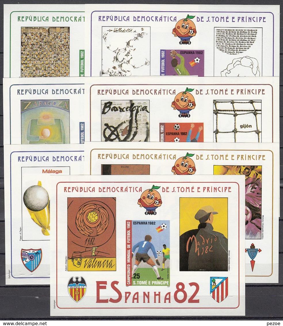 Football / Soccer / Fussball - WM 1982: Sao Thomé  7 Bl **, Imperf. - Coupe Du Monde