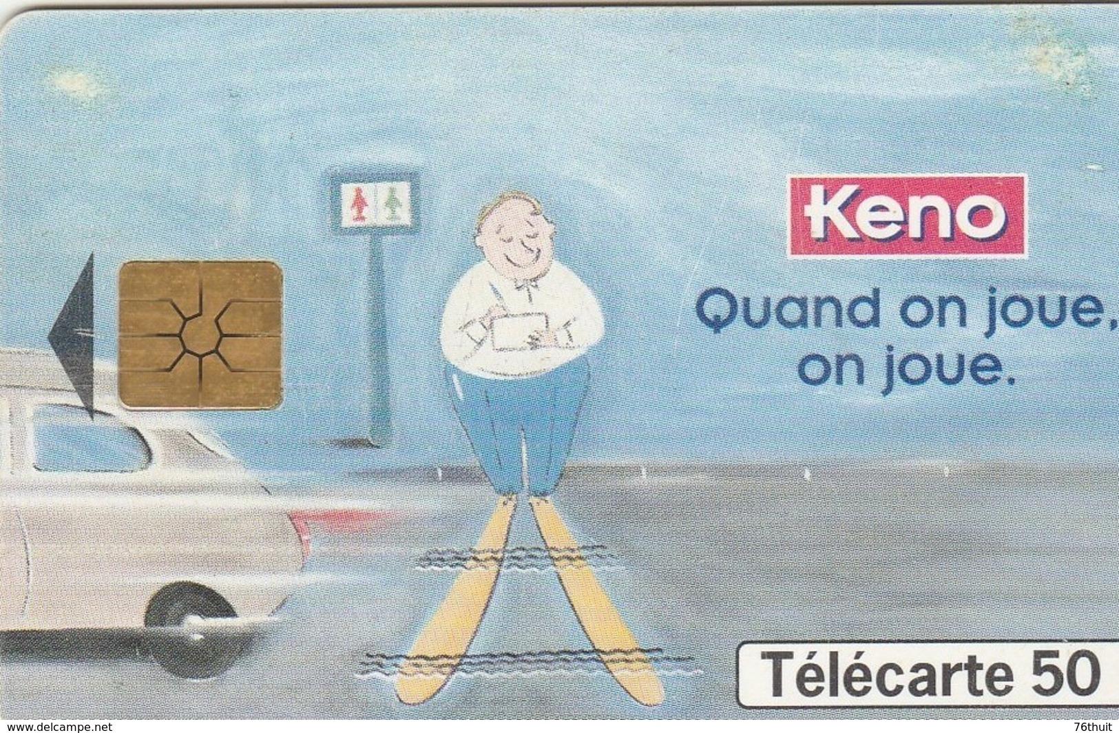 CARTE TELEPHONE FRANCE TELECOM  - 50  - KENO - Jeux