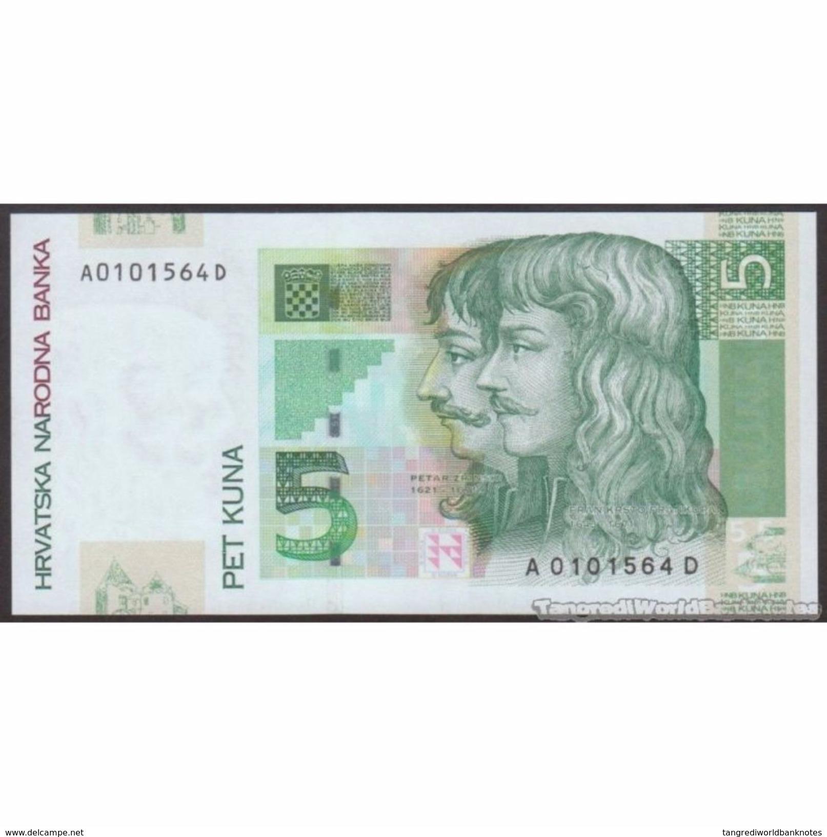 TWN - CROATIA 37 - 5 Kuna 7.3.2001 A XXXXXXX D UNC - Croatie